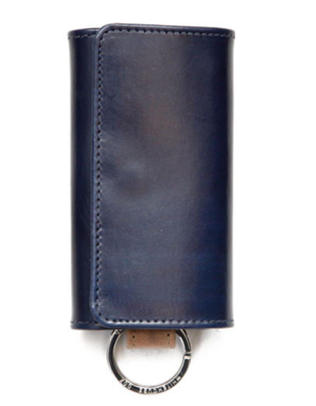 S9692 KEY CASE WITH RING VINTAGE 2TONE