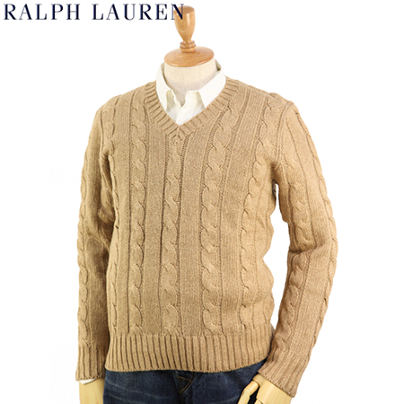 Ralph Lauren/Men's Silk V-Neck Sweater