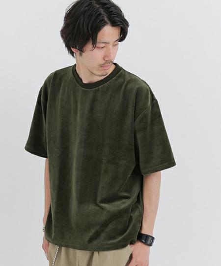URBAN RESEARCH/ベロア5分袖Tシャツ