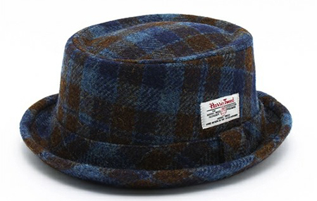 CABALLERO×HARRIS TWEED/PORK PIE HAT GRANADA BLUE