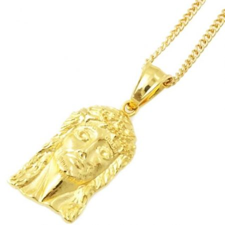 Gold Jesus Pieceネックレス