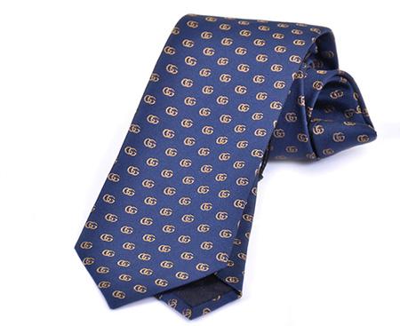 ブルー GGパターン小紋ネクタイ
