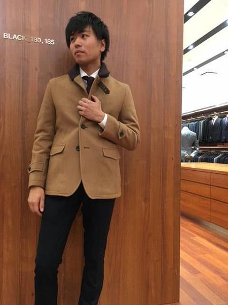 コート スーツ コーデ