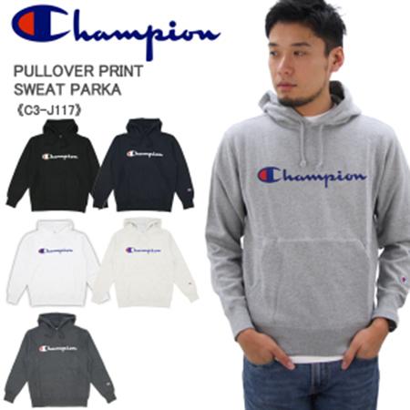 Champion/プルオーバープリントスウェットパーカー