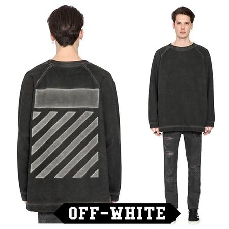 OFF-WHITE/ブラッシュドトレーナー