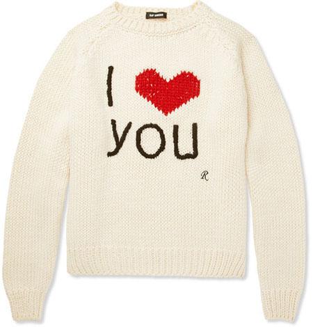 I LOVE YOU ニット