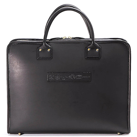 バケッタレザービジネスバッグ(9884・ブラック)