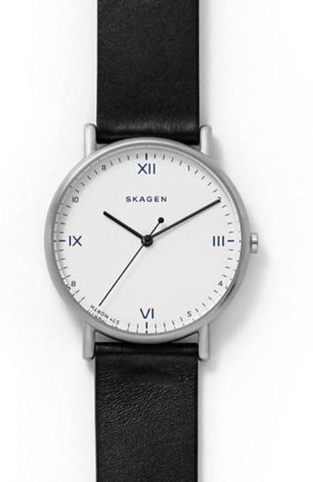 SKAGEN x Playtype Signatur Black Leather Watch