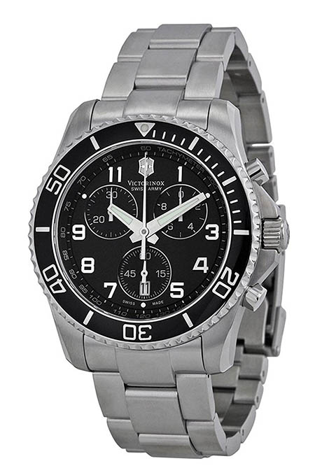 Maverick GS Black Chronograph Dial Watch