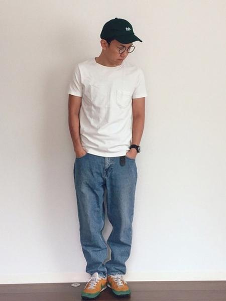 デニム×白Tシャツ