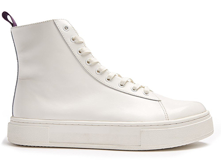 Kibo high-top leather trainers