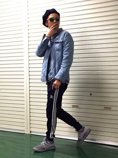 adidas ジャージ コーデ