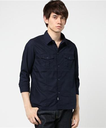 ネイビーシャツ