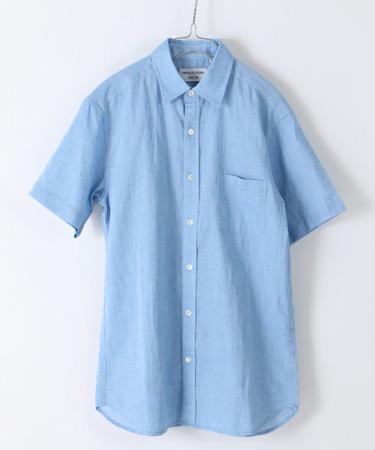サックスシャツ