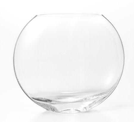 ガラスフラワーベース 円盤型