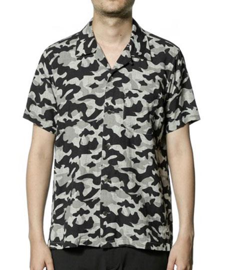 KAZUYUKIKUMAGAI/Li CシャンブレーPtオープンカラー半袖シャツ