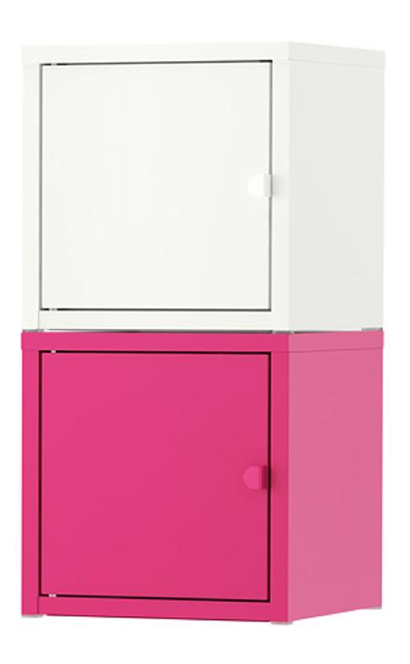 LIXHULT収納コンビネーション ホワイト ピンク
