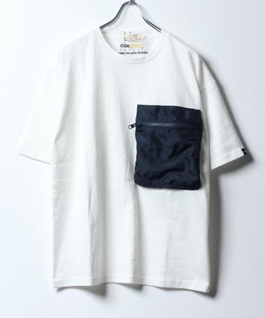 NAVAL/コーデュラナイロン無地パッカブルポケット半袖Tシャツ