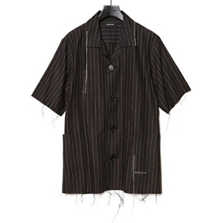CHRISTIAN DADA/Open Collar Stripe Shirt