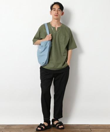 スキッパーシャツ コーデ