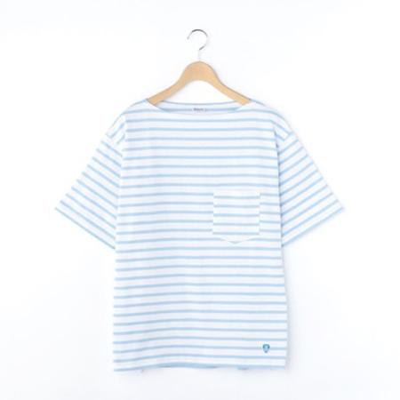 ORCIVAL/ボートネック 半袖ポケットTシャツ