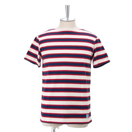 ORCIVAL/3color STRIPE ボートネックTシャツ