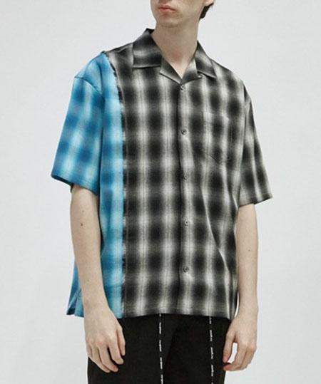 DISCOVERED/オンブレチェックシャツ