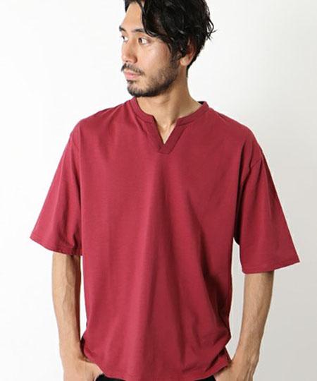プレーティング ジャージー スキッパーTシャツ