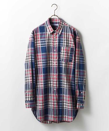 Johnbull Private labo/チェックロングシャツ