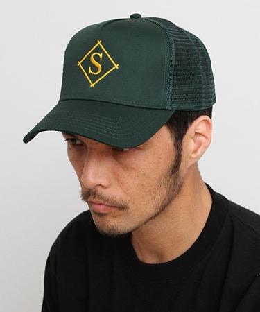DIAMOND MESH CAP グリーン S メッシュキャップ