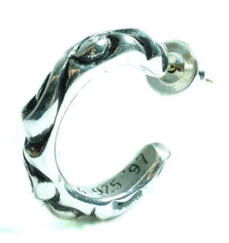 CHROME HEARTS/SCROLL HOOP EARRING