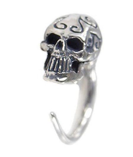 【CRAZY PIG】TRIBAL SKULL HOOP PIERCE