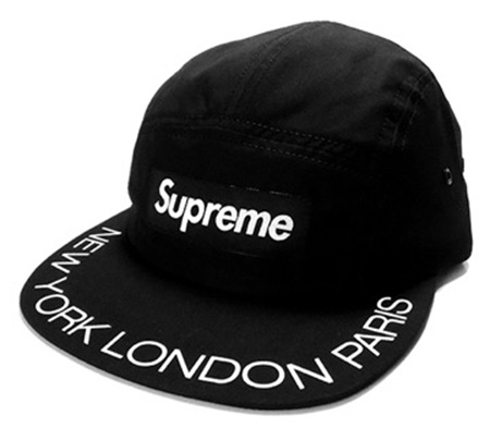 Supreme Box logo visor print camp cap
