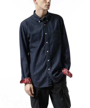 SOPHNET. /DENIM B.D SHIRT
