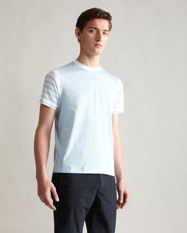 ストライプコットンTシャツ