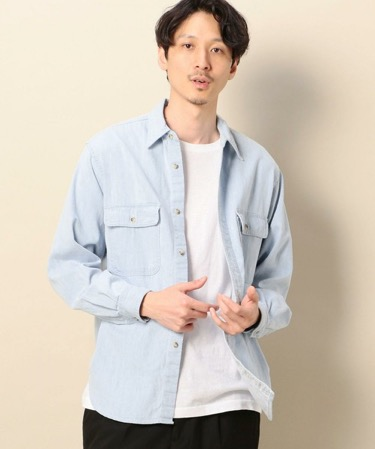 EIZIN SUZUKI/DENIM SHIRT BLUE