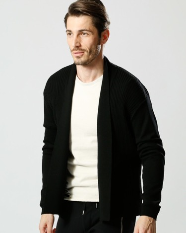 wjk/button less cardigan