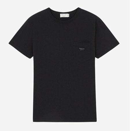 TEE-SHIRT BLACK FOX PATCH
