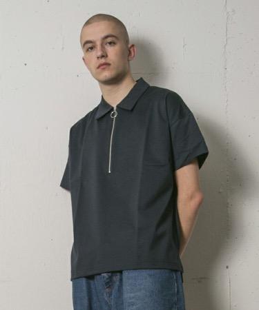 圧縮ハイゲージコットンリングポロシャツ