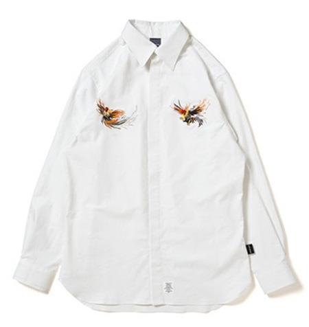 '闘鶏' Fly Front Shirt