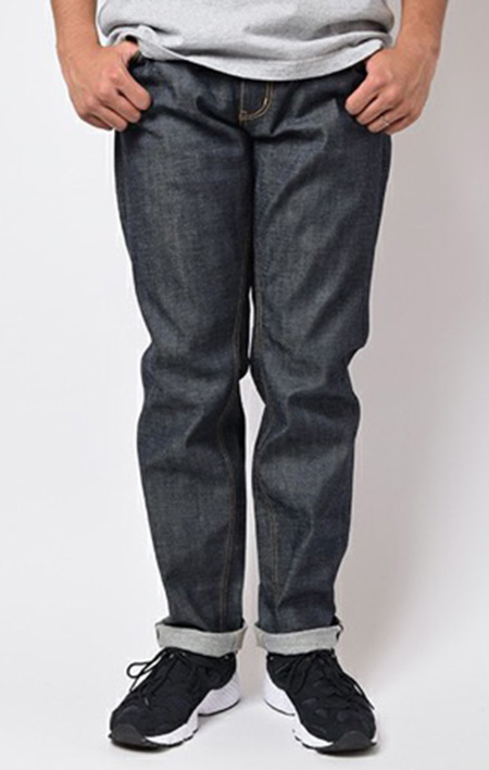 NON WASH STRETCH TAPERED DENIM