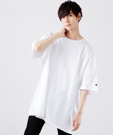 無地ルーズTシャツ