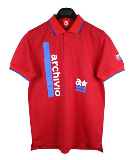 ポロシャツ ロゴ 赤