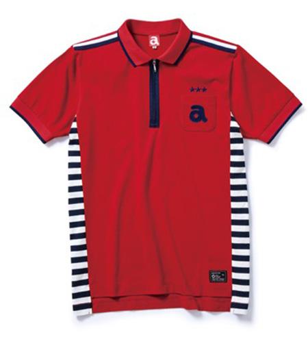 ジップアップポロシャツ