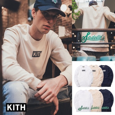 KITH X SADELLE'S ロングスリーブロゴTシャツ Monday Program
