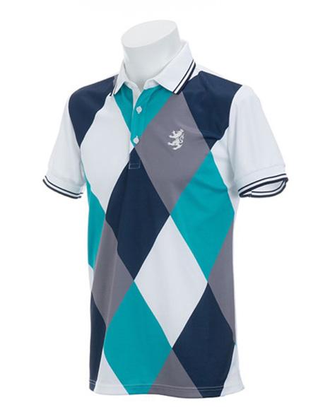 アドミラルゴルフ アーガイル ポロシャツ