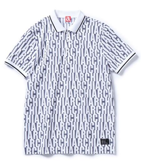 ポロシャツ モノグラムロゴ