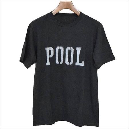 スプレーロゴプリントTシャツ ブラック