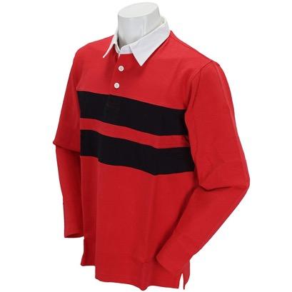 長袖シャツ・ポロシャツ 長袖ポロシャツ レッド