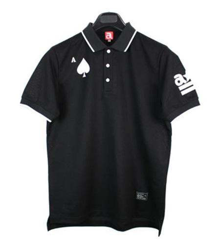 ポロシャツ スペード 黒